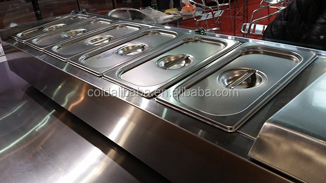 Hot sale commercial refrigeration equipment for hotel and restuarant buffet display cooler/salad bar