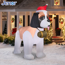 Christmas Inflatable Dog for Outfoor Decorations