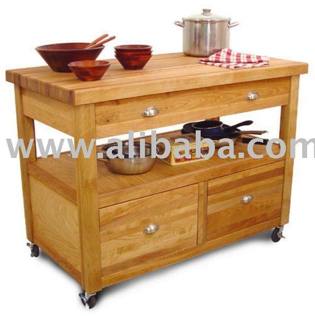Cocina isla gabinete estilo carros mobiliario de cocina for Muebles de cocina islas con ruedas