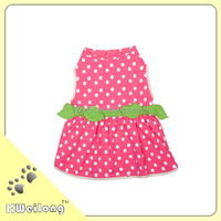 the summer fashion pink and white dot dog dress/pet dress