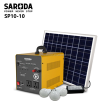 Mini 300w solar power generator with panel system for home used