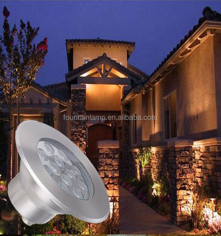 304 stainless steel epistar pure white 12 volt led underground light for garden & pool pond