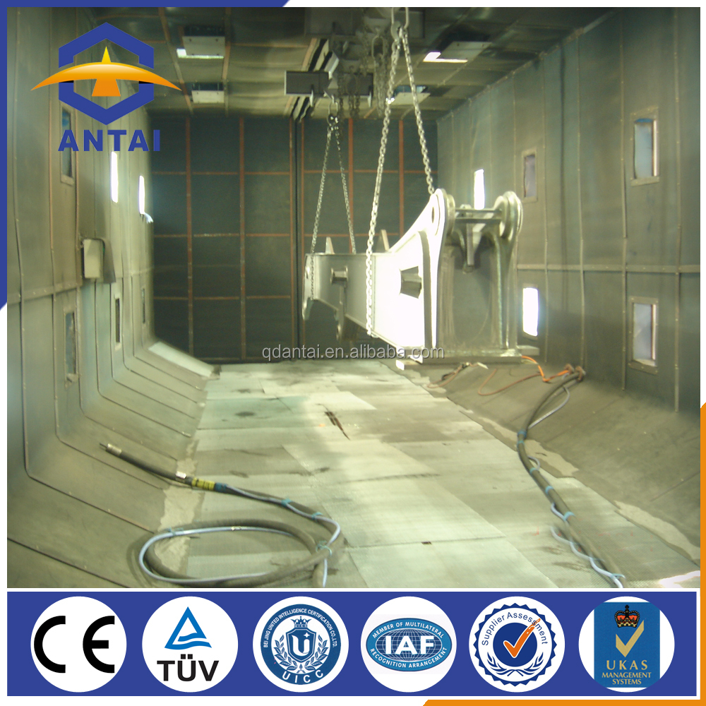 automatic best design sand blasting booth