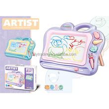 Educational ABS plastic colourful writing and drawing magnetic board to kids 2colour mix