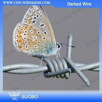 Hot Sale!!! Barbed Wire Spools, Cheap Barbed Wire Singal Twist, Grass Boundary Galvanized Barbed Wire
