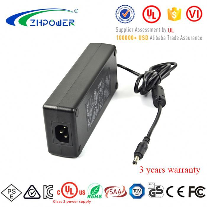 Class 2 power supply 24Volt 5Amp AC DC adapter 24V 5.0A 120VA with VI LEVEL CEC DOE UL1310