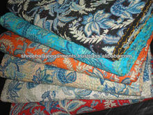 wholesale Indian kantha Blanket,Handmade Kantha Stitched Cotton Printed Quilts Wholesale blanket, cotton reversabile Throw