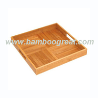 Criss-Cross Serving Tray Bamboo Kitchen Cutlery Tray