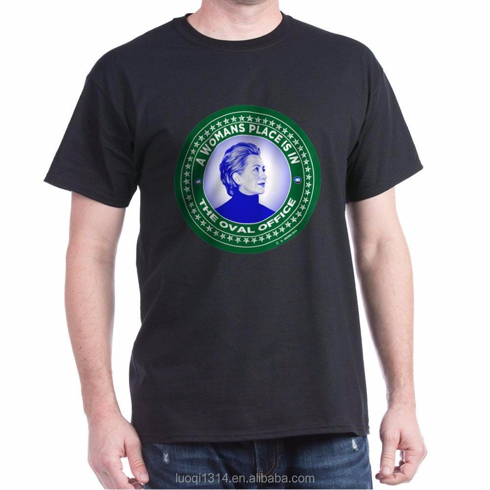 Plain White Custom Print Cheap Election T Shirts 100
