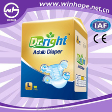 Cloth-like back sheet cotton Adult Diapers organic Dr.Right brand china good manufacturer
