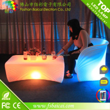 Outdoor Rechargeable Colorful LED Illuminated Modern Bar Counter/Home furniture