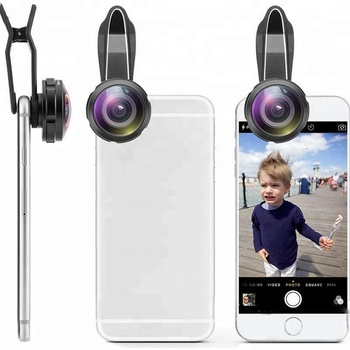 238 Degree high convex definition super fisheye no dark corner portable lens universal clip on for mobile phone