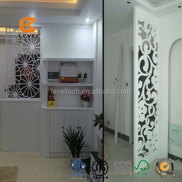 Laser Cutting Metal Wood MDF Screen Divider Grille Divider Panels For Decoration