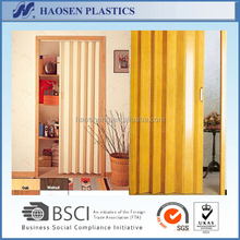 PVC Plastic Soundproof Accordion Folding Interior Door