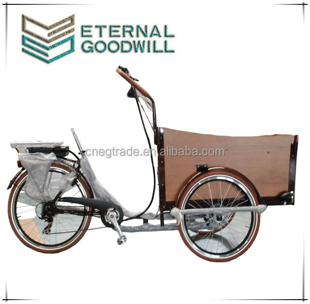 2017 electric tricycle adult hydraulic disc brake electric cargo bike tricycle UB9032E 36V 9A