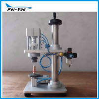 High quality cheap Semi-automatic Pneumatic Perfume Bottle sealing machine