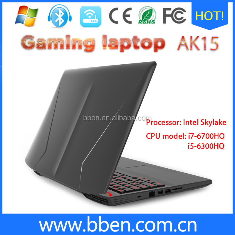 High performance 15.6 inch gaming laptop notebook computer i7 6700HQ 8Gb 16GB Ram 512GB SSD