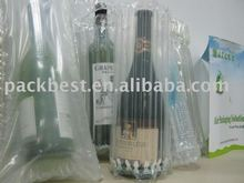 void fill packaging air pouch for winebottle