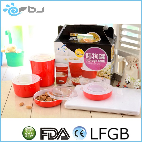 Sealable Food Round Plastic Container With Lid