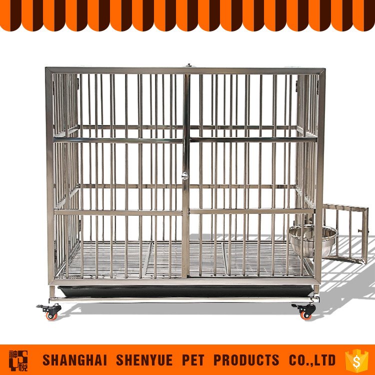 2017 New Products Foldable Stainless Steel Pet Dog Cage For Sale Cheap