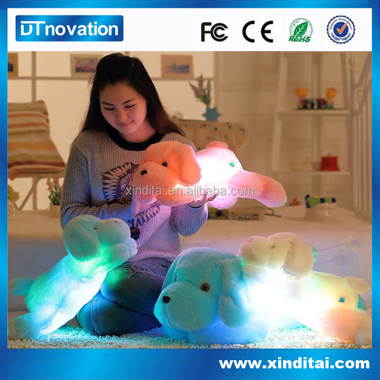 Light Up Plush Toy Animal with red/blue/green color led Pillow,large stuffed dolls