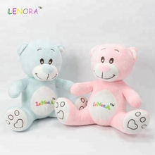 Custom Colors Stuffed Mascot Pink And Blue T-Shirts Fat Led Big Huge Giant Panda China Chubby Plush Gifts Names Teddy Bear Toys