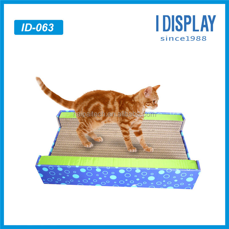 custom popular pet product toys corrugated cardboard cat scratching post