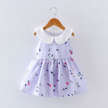 New design Hot sale summer 2017 baby clothes wholesale printing cotton clothing boutique custom kids new model girl dress