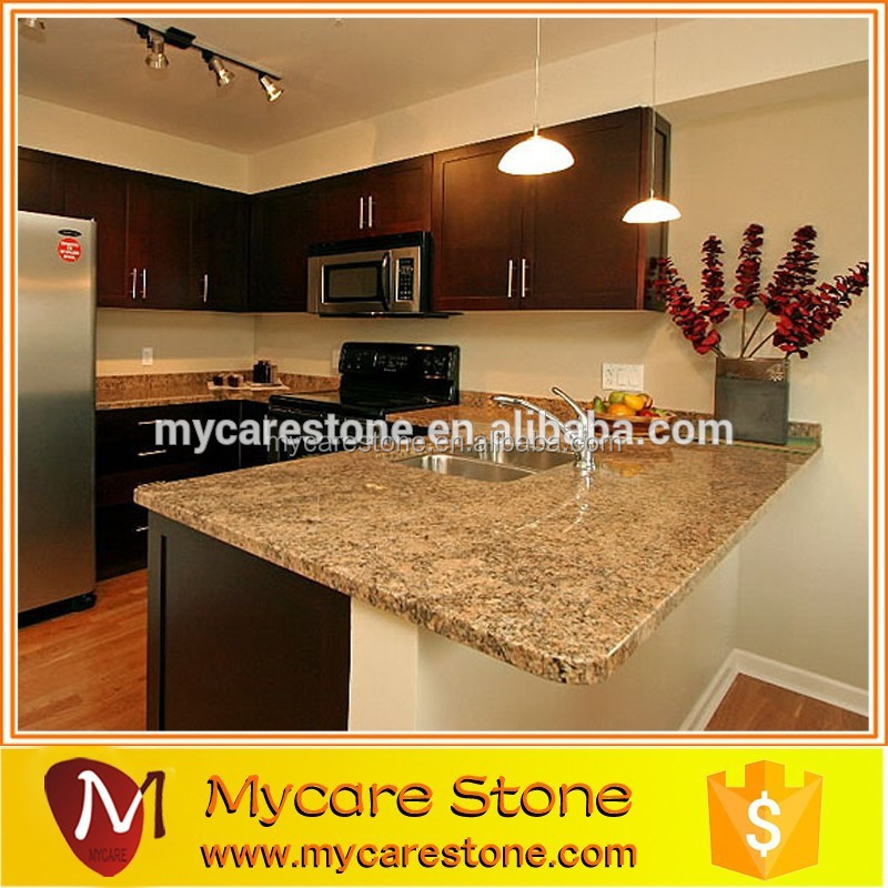 Customized imperial gold popular granite slab for countertop