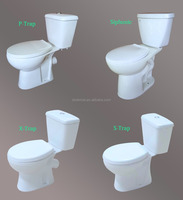 Hot sale Two piece toilet cheap price P/S/X Trap sanitary ware