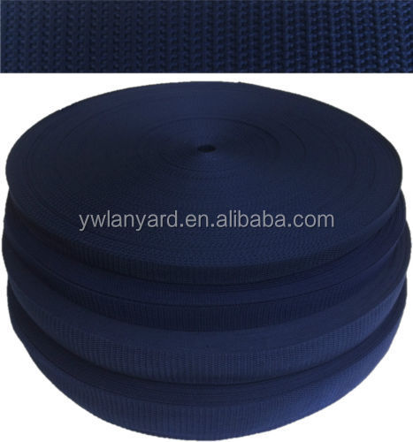 2015 high quality colored 25/30/35/50mm woven pp polypropylene webbing