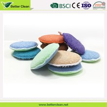 Scrubber round kitchen room wipe foam clean polishing for dish scrub sponge pad