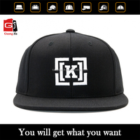 Wholesale Unisex Fashion Accessory High Quality 3D Puff Embroidery Plain Custom Black Snapback Hats
