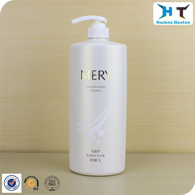 1L HDPE plastic bottle with oval shape / 1L shampoo bottle made from suzhou haotuo factory