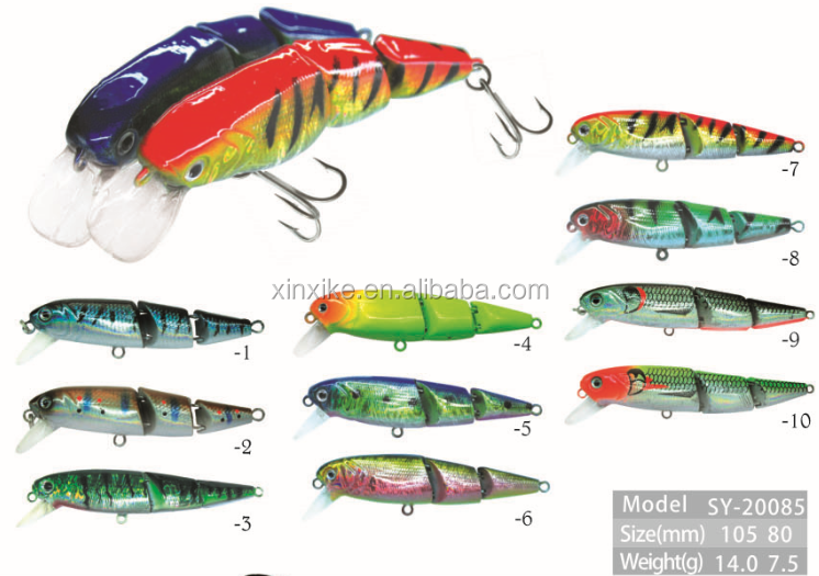 2017 New Hot Two Section Plastic Artificial Minnow Hard Bait fishing lure