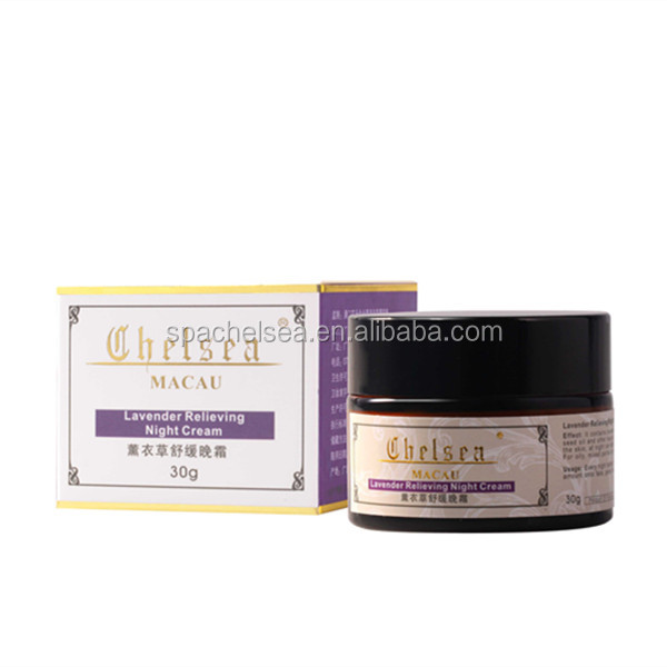 lavender relieving nourish skin night Cream