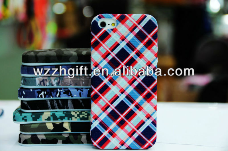 Lattice Fabric Phone Case Moblie Phone Case for Iphone5
