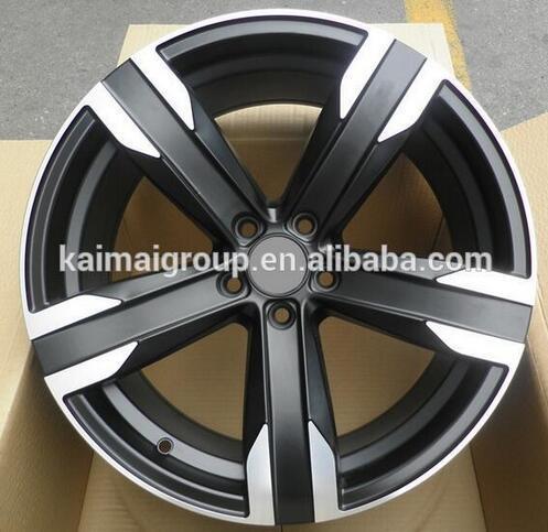 22x9.5inch 5x120pcd gun grey machined face alloy wheels