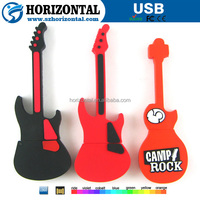 Factory customized pvc mini guitar usb for gadget