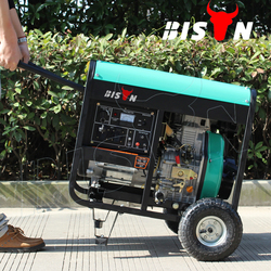 BISON CHINA Taizhou 5.5kva Single Phase Open Diesel Generator Price in India