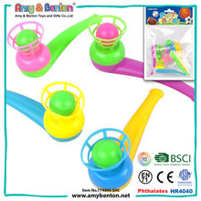 Wholesale alibaba cheap colored small plastic blow ball pipe toy