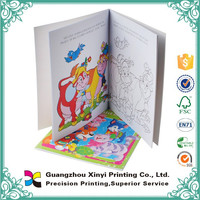 Interior offset paper softcover children color painting book