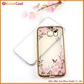 Hot selling Electronic With Diamond Flower Design TPU Cover Case for Samsung Galaxy S6