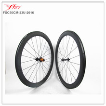 Light weight Chinese carbon wheelset for racing bicycle 50mm x 23mm Clincher wheels carbon 20H/24H Dropshipping