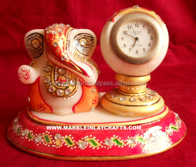 Marble Painting Ganesh With Watch