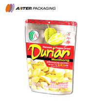 custom printed laminated airtight resealable stand up aluminum foil zip lock plastic food packaging bags
