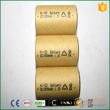 ni-cd sc1800mah 1.2v rechargeable battery for outdoor light
