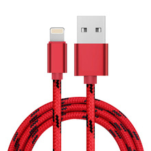 Tangle-Free Nylon braided Usb Charger Data Cable for iPhone , Micro Usb or Type C with Anti-oxidation Aluminium Connector