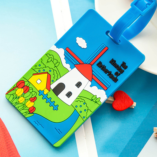 New Cute 3D Cartoon Plastic Luggage tag Travel Luggage Suitcase Baggage Travel bag Boarding tag Lovely Address Label Name ID Tag