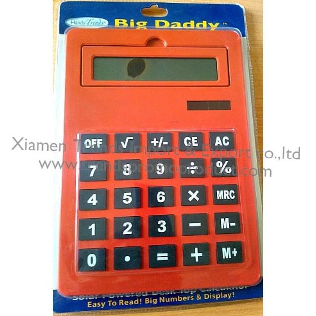 Big daddy Orange Adjustable Tilt-Angled StreamLine calculator/large display big button calculator with rubber buttons